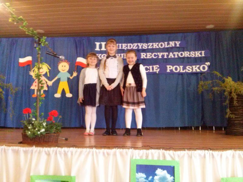 """II MIĘDZYSZKOLNY KONKURS RECYTATORSKI """"KOCHAM CIĘ POLSKO"""""""